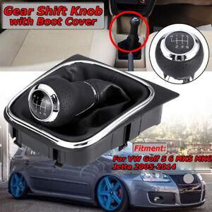 6 Speed Gear Shift Knob Stick Gaiter Boot For VW Golf 5 6 MK5 MK6 Jetta  DL! HL