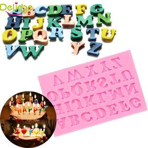Cake Decorating Letter Cubes : Silicone Alphabet Letter Cake Fondant Decorating Trays ...