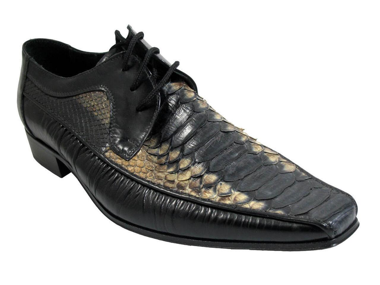 alta quaità Uomo Davinci 39195 Italian lace up up up multi colore snake skin scarpe  elementi di novità