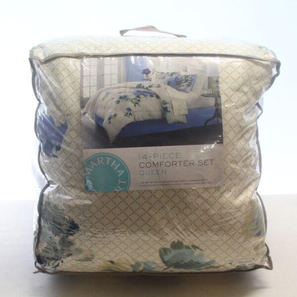 Onvermoeibaar Martha Stewart Bedding Meadow Bouquet 14-pc. Queen Comforter Set $360 I3741