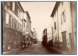 France-Le-Teil-scene-de-rue-Vintage-citrate-print-Tirage-citrate-12x17