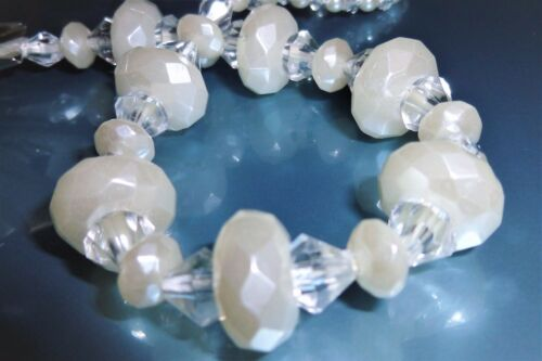 Ivory Pearl Special Occasion Crystal Bling Baby gift dummy clip holder strap