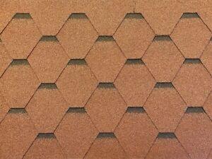 Dachschindeln-Hexagonal-Dreieck-Form-6-m-Braun-2-Pakete-Schindeln-Dachpappe