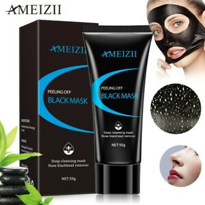 Glamza-Charcoal-Blackhead-Remover-Peel-Off-Facial-Cleaning-Black-Face-Mask-50g