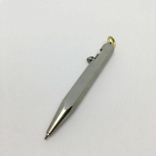 EDC Gear Mini Signing Pen Pull Bolt Switch Ballpoint Tactical Write Pen P-96S