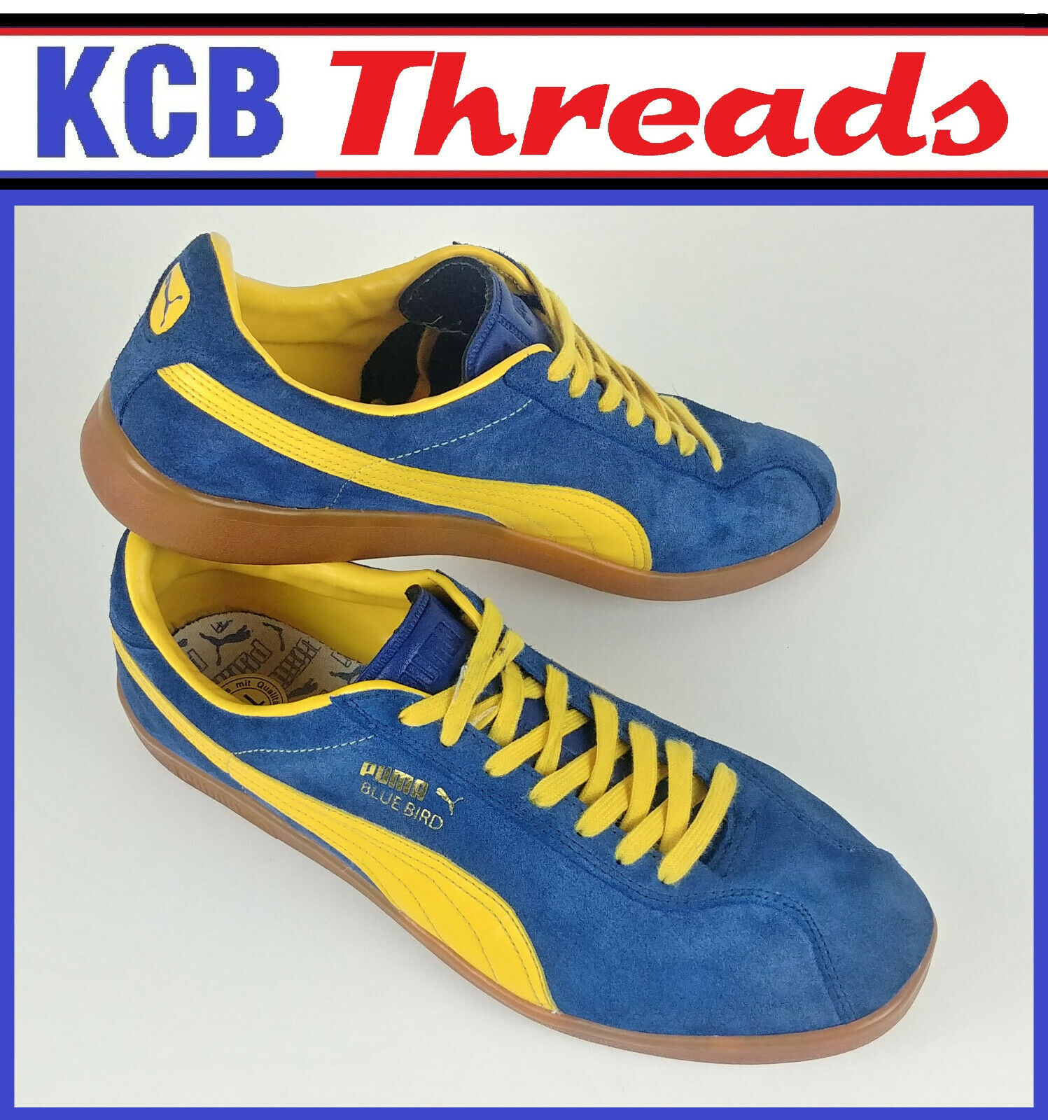 Puma blueebird Running Trainers 351962 bluee Yellow Suede Kicks shoes Mens Size 11