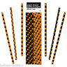 10 Assorted Halloween Black Orange Polka Dots Party Paper Drinking Straws