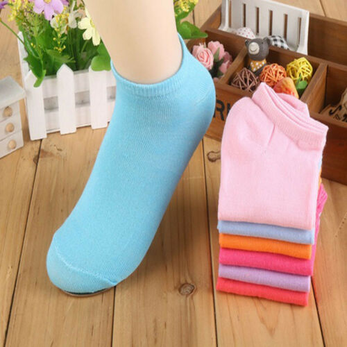 LOT 20Pairs//Pack Women Low Cut Cotton Socks Fashion Boat Ankle Socks Mixed Color