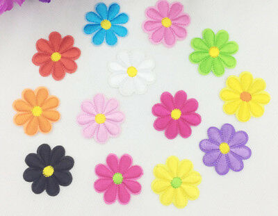 2 x Iron On Flower Daisy  Applique Sew on *Buy 1 get 1 30/% Off *2