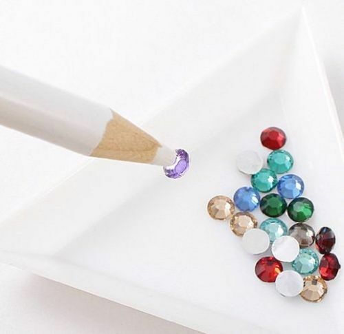 Rhinestones Crystals Gems Wax Picker Pencil Art and Crafts Nail Art Tool Tray UK