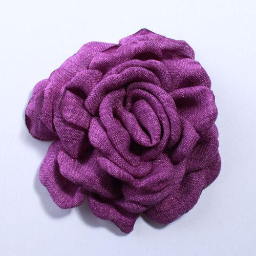 Fashion Korea chanvre brûlé tissu fleurs pour cheveux Clips environ 7.62 cm 20PCS 8 cm 3 in
