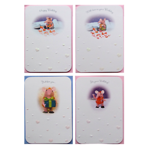 THE CLANGERS White Birthday Cards 17cm x 12cm Granny Mother Small Sold Singly