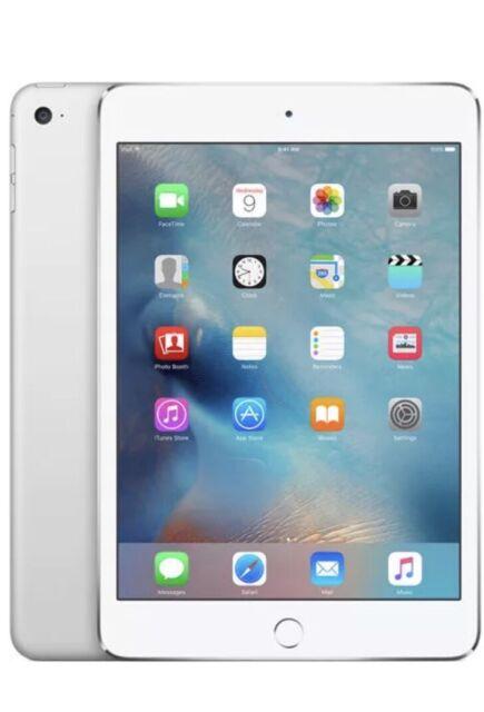 Apple iPad Mini 4 Gen 64GB Retina Display Wi-Fi  7.9in SIlver A+ Grade Warranty