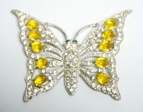 Vintage Unsigned STARET Lg Topaz- Crystal- Green R