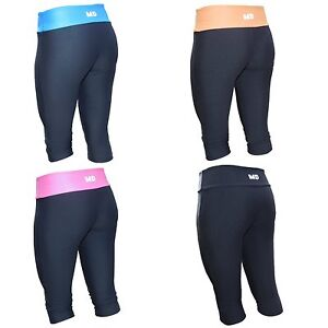 Womens-Gym-3-4-Tights-Workout-Yoga-Running-Ladies-Fitness-Sports