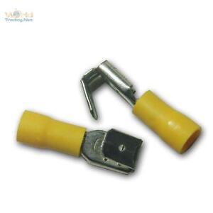 50-Terminal-plano-enchufe-con-Rama-amarillo-6-3x0-8mm-Terminales-de-cable-para