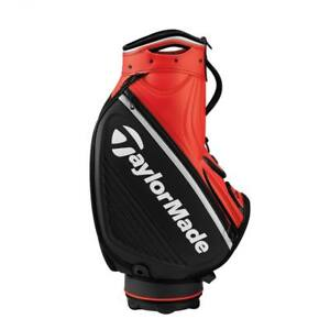 New-TaylorMade-2019-Players-Tour-Staff-Golf-Bag-9-5-034-Blood-Orange-Black-Silver