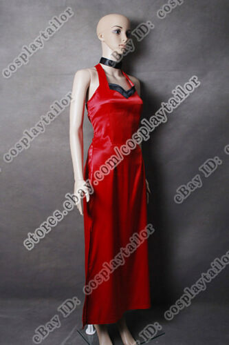 Details about  /Resident Evil 5 Cosplay Ada Wong Costume Red  Dress For Halloween Party To Wear