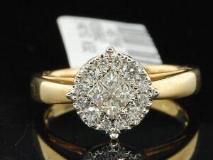 14K or Jaune Solitaire Pendentif coupe de princesse avec 1.50 Ct créé diamant