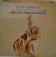 """OST - THE TEN COMMANDMENTS - ELMER BERNSTEIN 12"""" LP (S969)"""