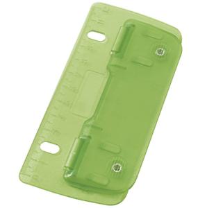 8 cm Flat 2 Hole Pocket Punch School Office Puncher Green