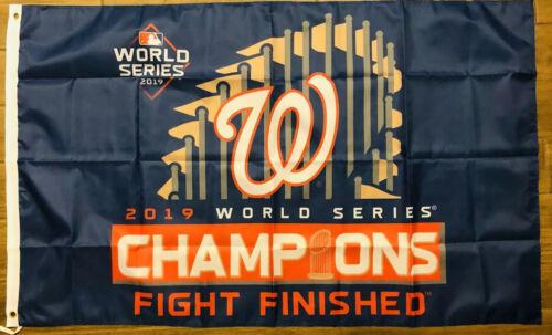 Washington Nationals Flag 3x5 World Series Champions 2019 Blue Banner