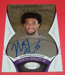 2018-Panini-Certified-Potential-CP-MB-Marvin-Bagley-III-Sacramento-Kings-Auto