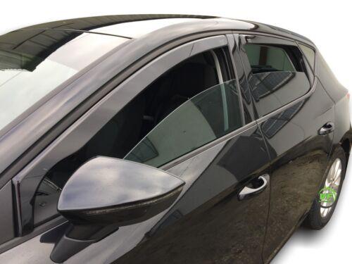 DSE28239 Seat Leon mk3 de 5 puertas 2013-up viento desviadores 4pc Heko Teñido