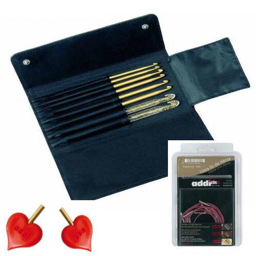 stopper corde-maglia lana Addi-Click-ASTUCCIO-addi Hooks Set gs240-7