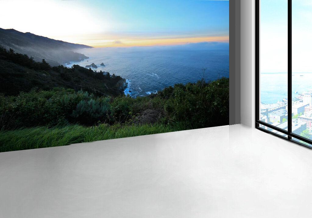 3D Die Berge, das Meer 356 Fototapeten Wandbild Fototapete BildTapete Familie