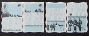 2009-AAT-Decimal-Stamps-Cent-1st-Expedition-to-South-Magnetic-Pole-Set-4-MNH