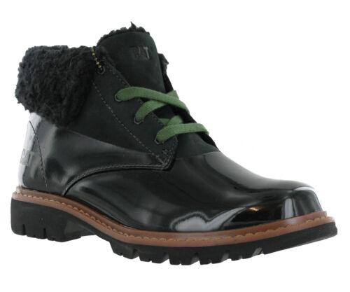 Caterpillar cat moyeu de fourrure en cuir à lacets bottes bottines bottes chaussures UK4-8