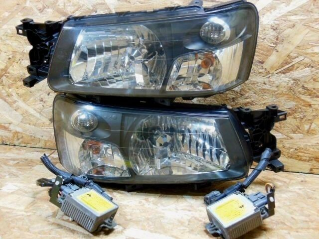 Jdm Subaru Forester Sg 5 2003 2005 Crystal Hid Headlight Set Rare Item Oem For Online Ebay