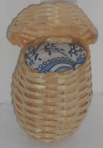 Wäschekorb, hell, Maßstab 1:12, Miniatur f.d. Puppenstube/Puppenhaus  #15#