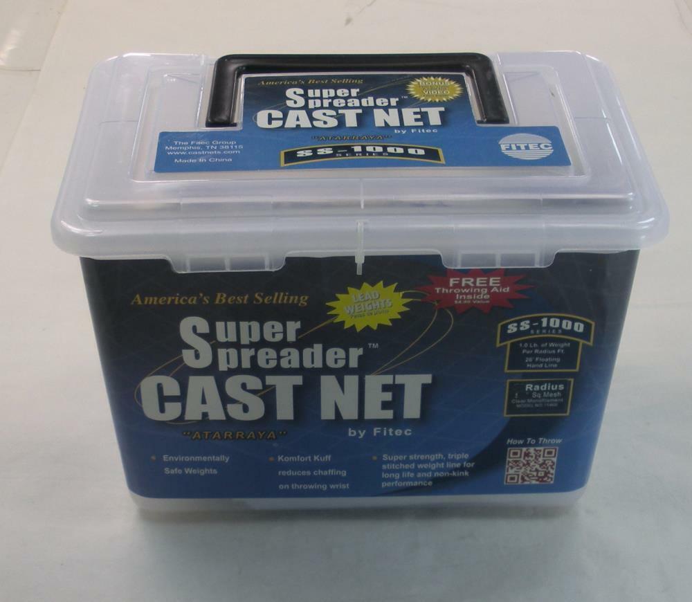 Fitec 11570 SS1000 Super Spreader 1 2  Cast Net 7 ft Radius 26031