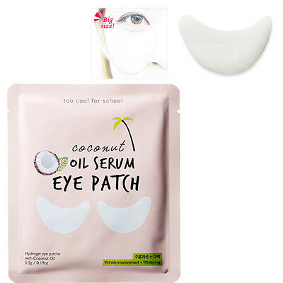 Too cool For School Coconut Oil Serum Eye Patch Korea Beauty Cosmetic 1/2/4/8EA