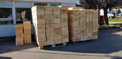 Fiducioso Scatola In Legno Vino Crate 12 Bottiglia Francese. Originale Storage Matrimonio Cesto Fioriera- In Molti Stili