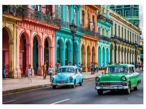 Photo wallpaper wall mural havana cuba old car large for 8 sheet giant wall mural