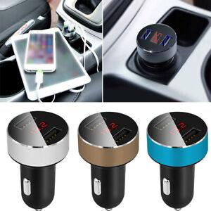 Dual-USB-Car-Cigarette-Charger-with-LED-Display-Volt-Amp-Meter-DC-3-1A-12V-24V