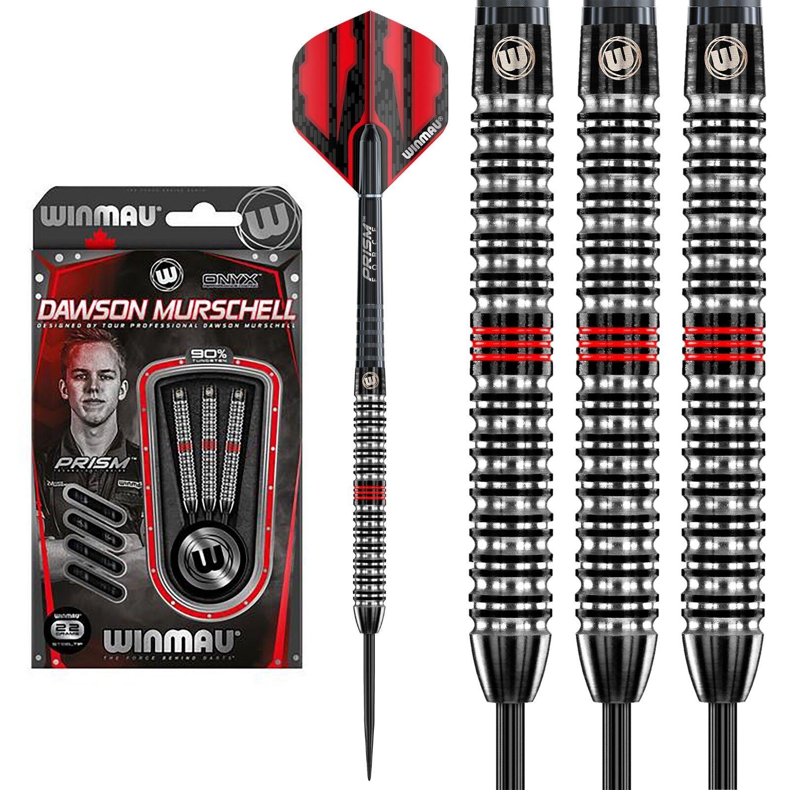 Winmau Dawson Murschell Onyx 90% Tungsten Darts - 22g