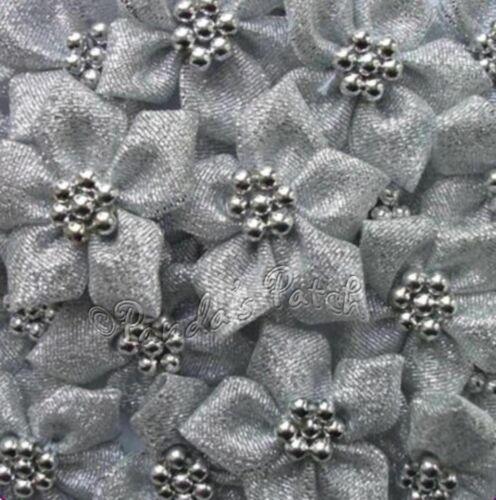 Ruban de satin POINSETTIA FLEURS avec perles choisissez votre couleur /& Pack Taille