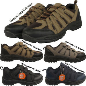 4d27c7a394ceb New Mens Velcro Camping Trekking Hiking Walking Boots Trainers Shoes ...
