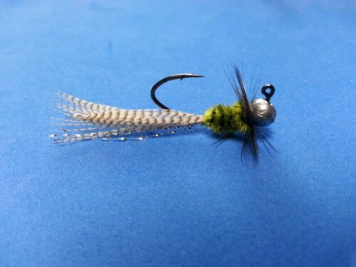 Bream and Trout 4 Custom Hand Tied 1//64 oz jigs great for Crappie #414-164
