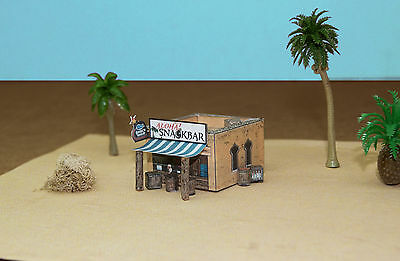 Camping Tent Fishs Grill Restroom /& Fire Set N Scale Building DIY Cardstock Kit