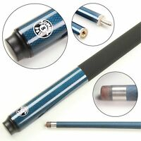 Jonny 8 Ball Blue & Black 2 Piece Genuine Graphite Snooker Pool Cue - 9mm Tip