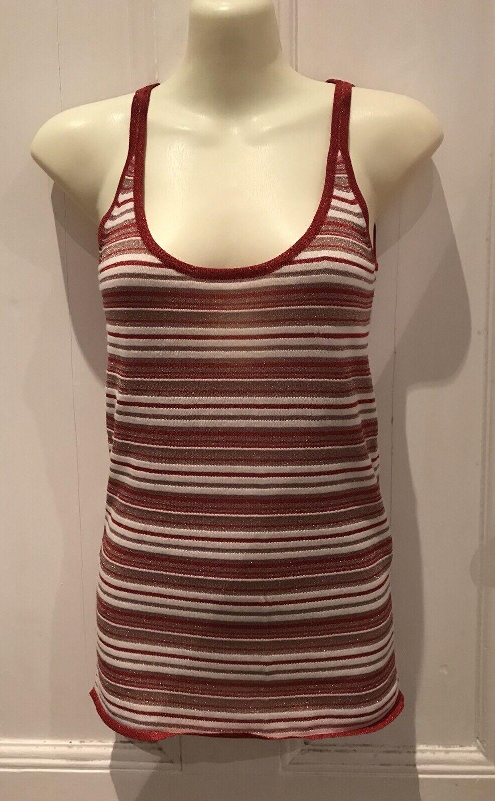 D&G Top Knitted rot Weiß Stripes Größe EU40 Hot Summer Vibes