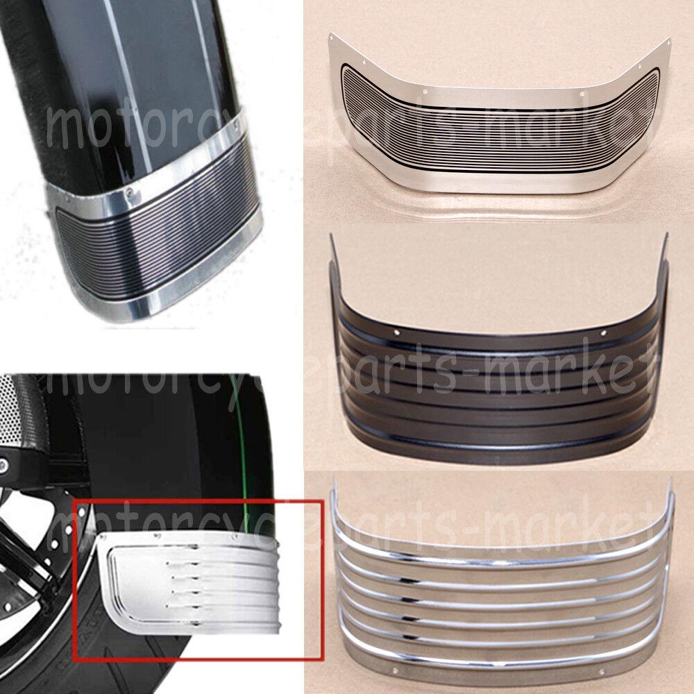 Sliver Steel Front Fender Trim Skirt For Harley Touring Motor Tri Glide 14-later