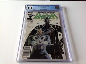 PUNISHER LIMITED SERIES 3 CGC 8.5 WHITE PAGES NEWSSTAND MIKE ZECK MARVEL COMICS
