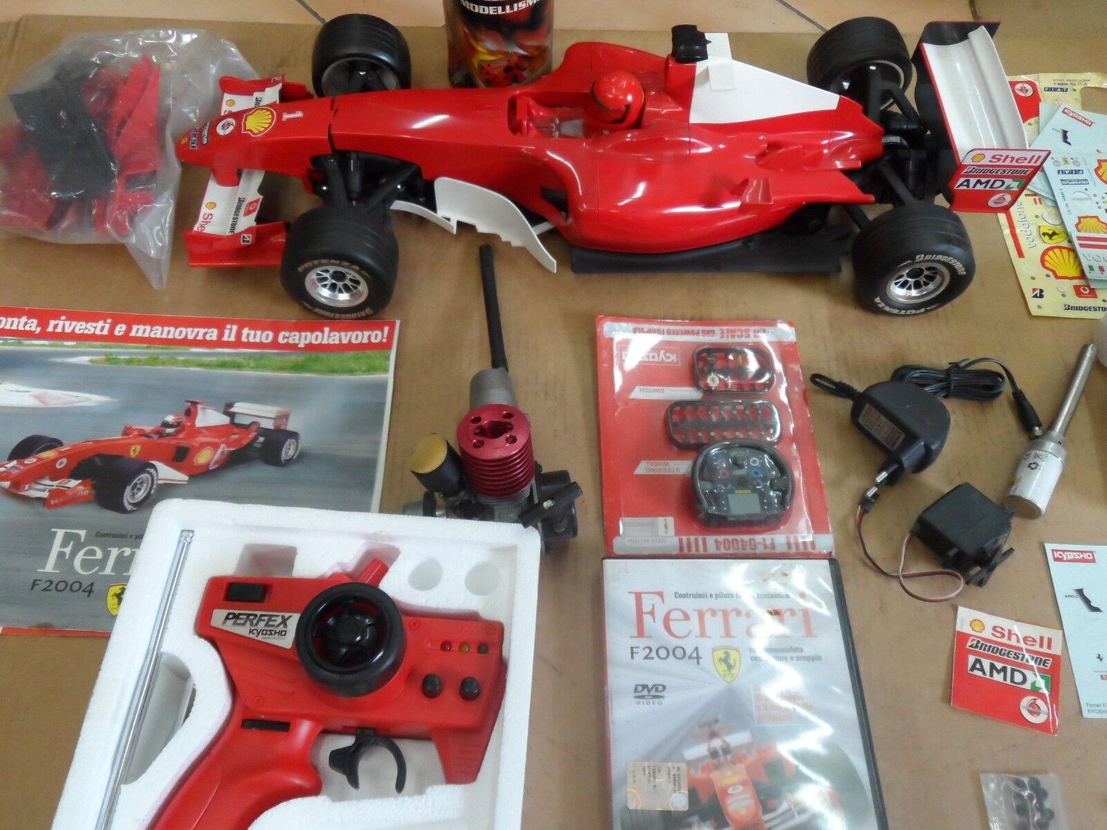 Modellino Ferrari F2004 scala da 1:8 completa di raccoglitori schede tecniche