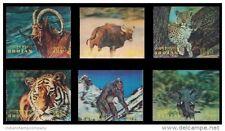 Bhutan 3-D Plastic Fancy Stamps-6 Different Elephant, Tiger